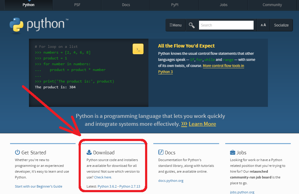 Show IP Protocols: Prepare Python 2 7 on Microsoft Windows