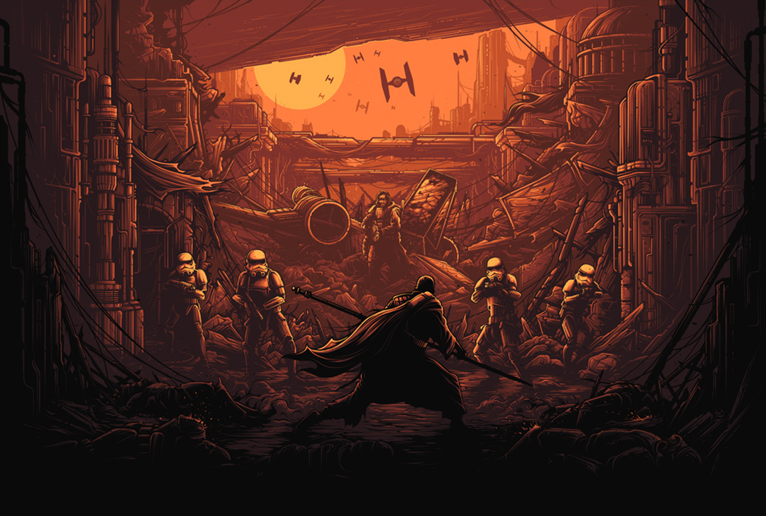 The Dork Review Rob S Room Star Wars By Dan Mumford