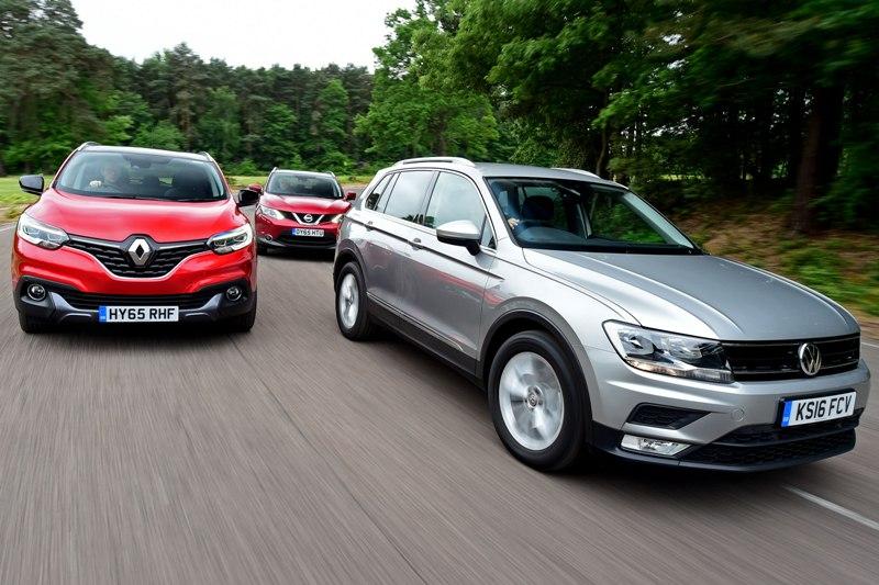 Volkswagen Tiguan, Renault Kadjar, Nissan Qashqai