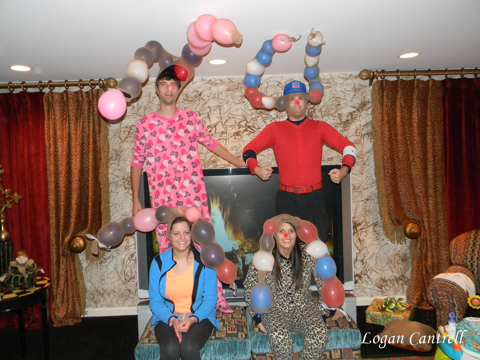 Pajama Christmas Party Ideas Part - 49: Reindeer Relay Game.