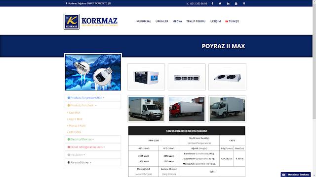 Korkmaz Soğutma Responsive Web Tasarım Alt Sayfa