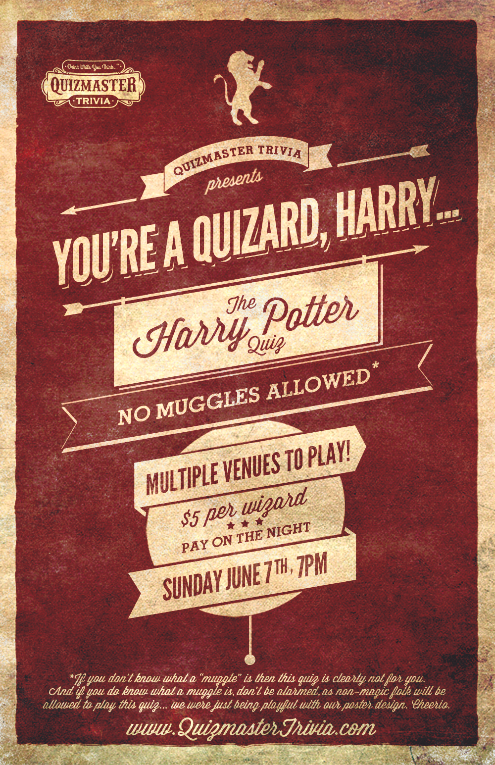You're a Quizard Harry... the Harry Potter Quiz is June ...