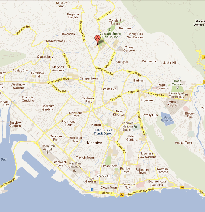 help jamaica kingston map