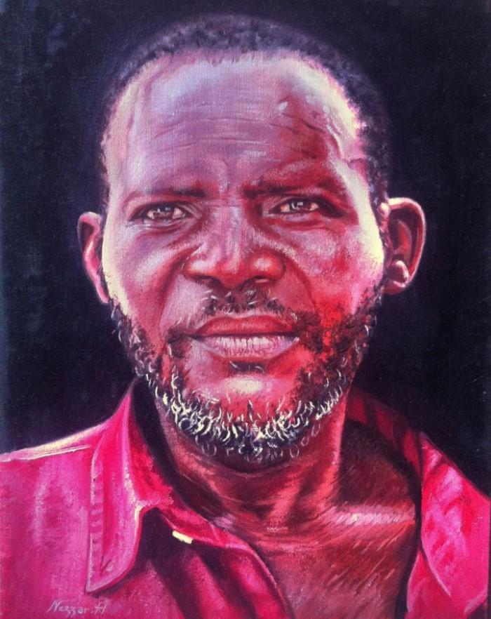 Алжирский художник. Hamza Nezzar