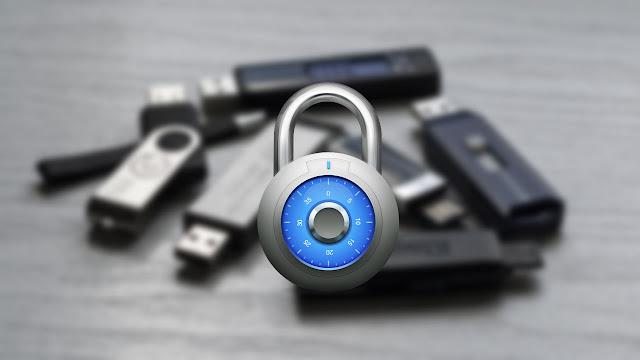 شرح طريقة غلق فلاشة USB برقم سرى بدون برامج