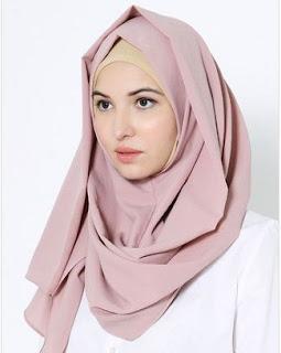 Contoh Jilbab Pashmina Instan