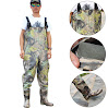 Sougayilang Boot-Foot Chest Waders Waterproof Fishing Hunting Boot Waders (#11.5)