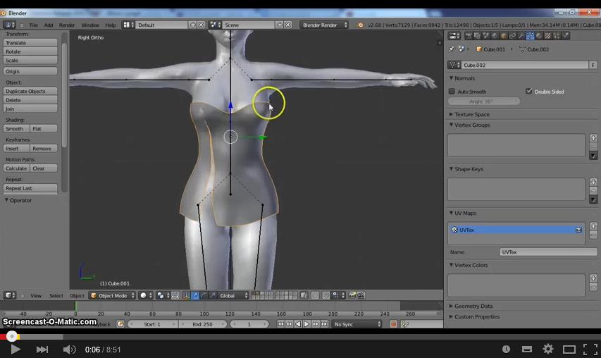 Rigging clothes for Second Life : Blender 2 6x - Metaverse Tutorials