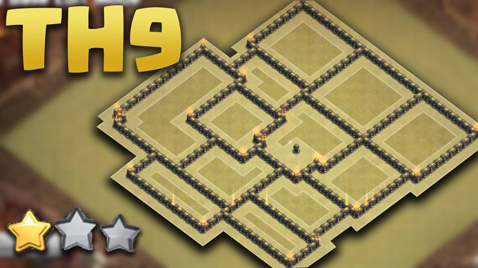 Anti 3 Stars War Base Layout For Th9
