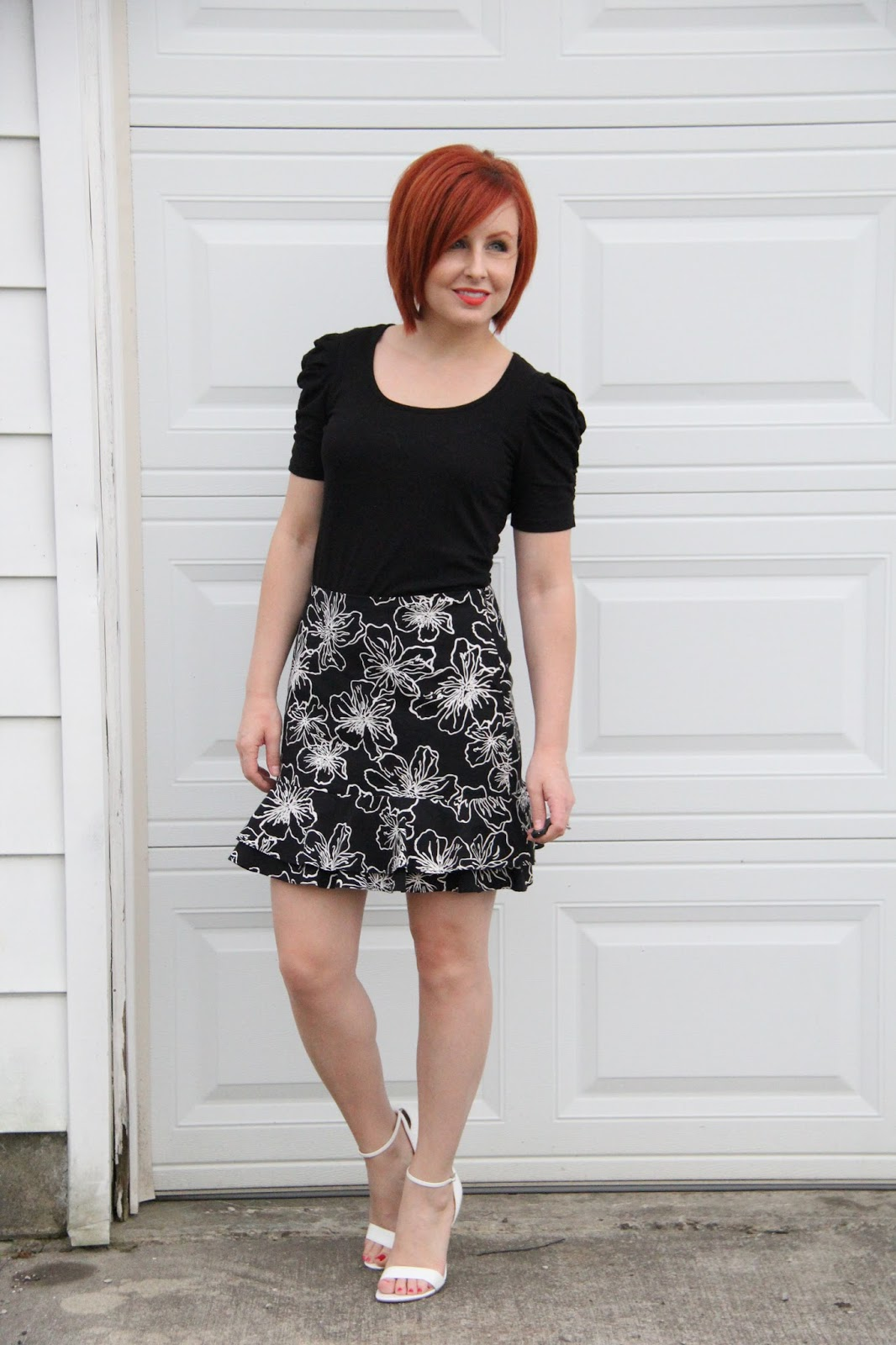 Thrift And Shout: Cute Outfit Of The Day: Fit And Flare Skirt