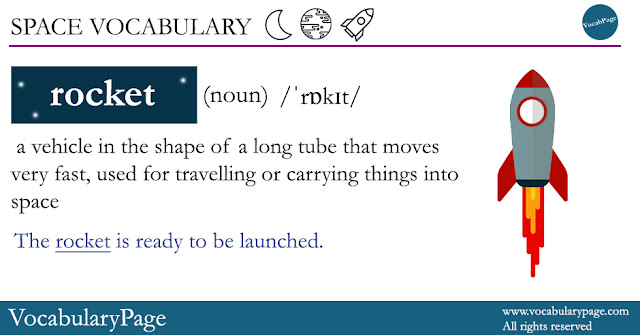 Space Vocabulary - Rocket