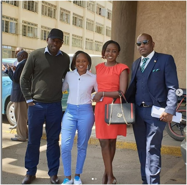 2 - PHOTO! DENNIS ITUMBI and JACQUE MARIBE resurface, he keeps on chasing her like a fly