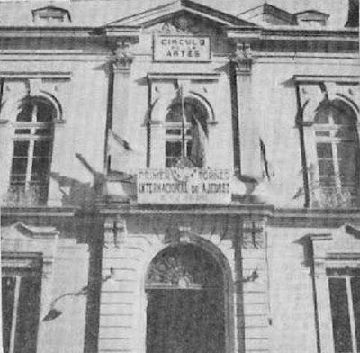 Fachada del Círculo de las Artes de Lugo en 1957