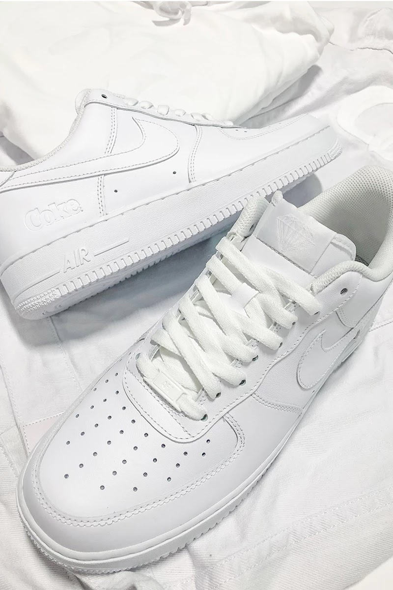half off 2db4c 1ef82 ... Co. is gearing up to drop a collaboration with Coca-Cola and Nike.  Taking to Instagram, Diamond founder Nicky Diamond posted an image of an Air  Force 1 ...