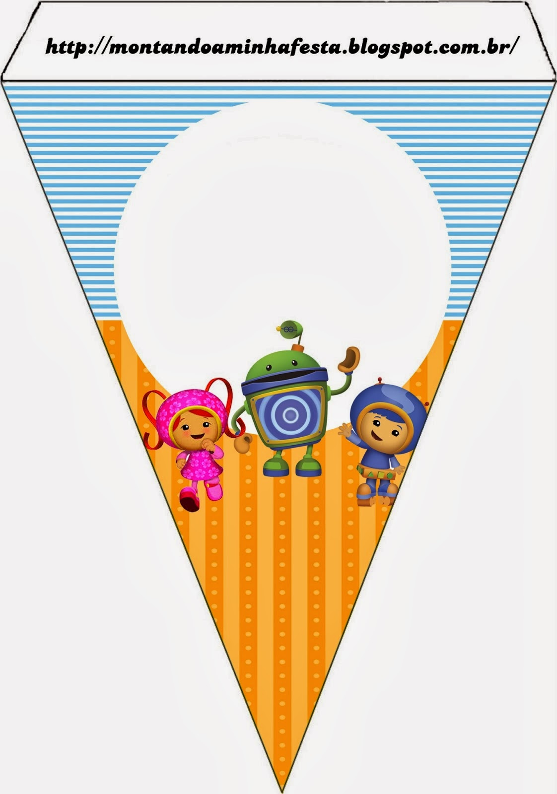 Umizoomi Free Printable Party Banners.