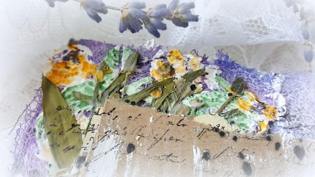мини-альбом, ботанический, сухоцветы, микс-медиа