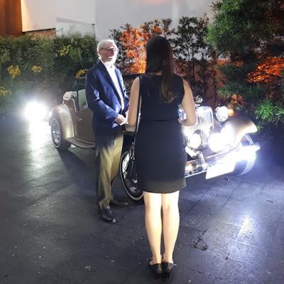 Percival Lafer atende jornalista da Revista Autoesporte.