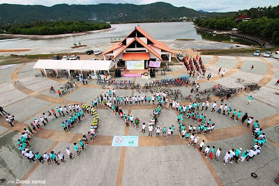 Car free weekend Koh Samui September 2012 aerial picture