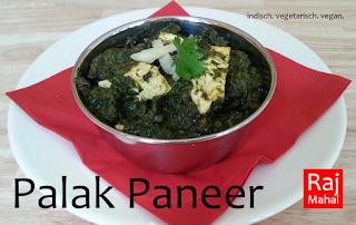 Palak Paneer: indischer Käse in fein gewürztem jungen Spinat