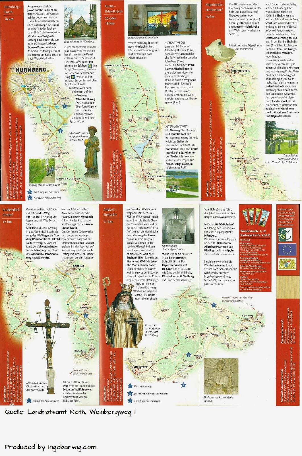 Jakobsweg Franken Karte.Jakobsweg Nürnberg Eichstätt Jakobsweg Nürnberg Eichstätt Details