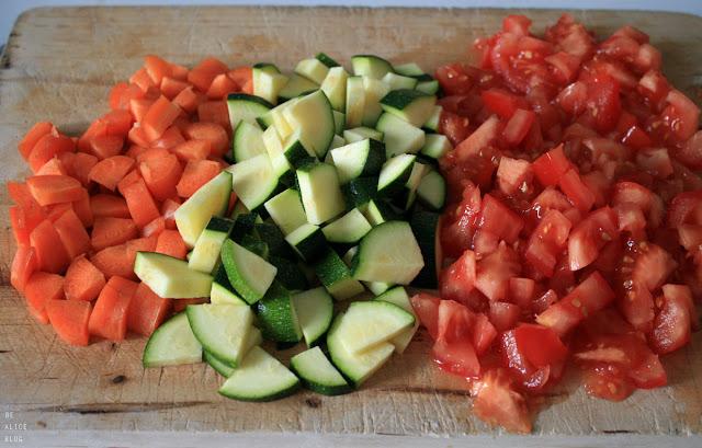 chili, vegetables, carrot, zucchini, tomato