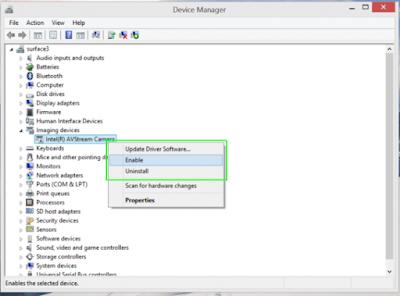 Cara menonaktifkan Kembali Webcam pada Windows 8