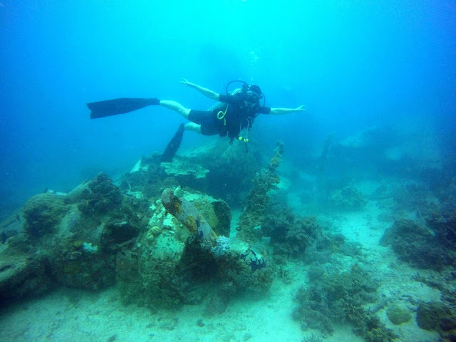 Truk Lagoon, Chuuk, Micronesia, FSM, Diving, Plane, Emily Flying Boat, Shipwreck