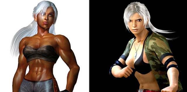 Virtual fighter Vanessa whitewashing