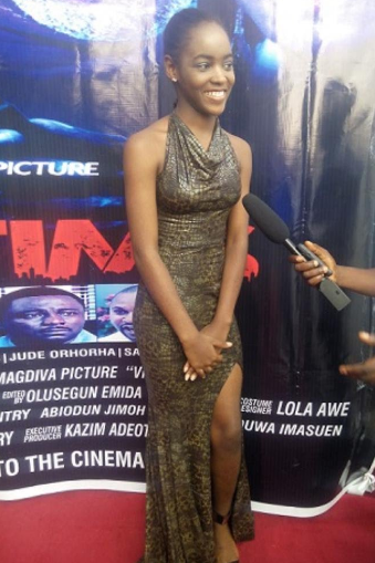 mercy aigbe daughter attends movie premiere alone
