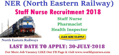 NER Staff Nurse Recruitment 2018
