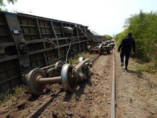 Descarriló un tren a 5 km de Metán, Salta