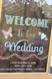 Welcome to our wedding - Birdcage vintage wedding - Irish wedding in Bavaria, Riessersee Hotel Garmisch-Partenkirchen, wedding venue abroad