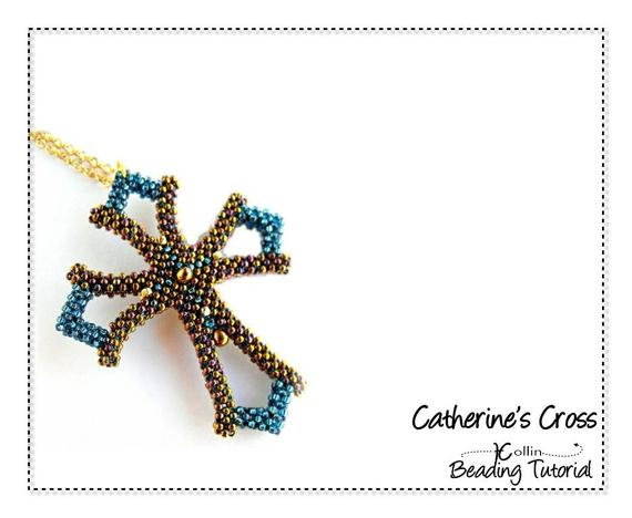 8 Awesome Beaded Cross Pendants Tutorials