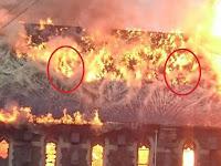 Wajah Seram Muncul Dalam Insiden Kebakaran Gereja