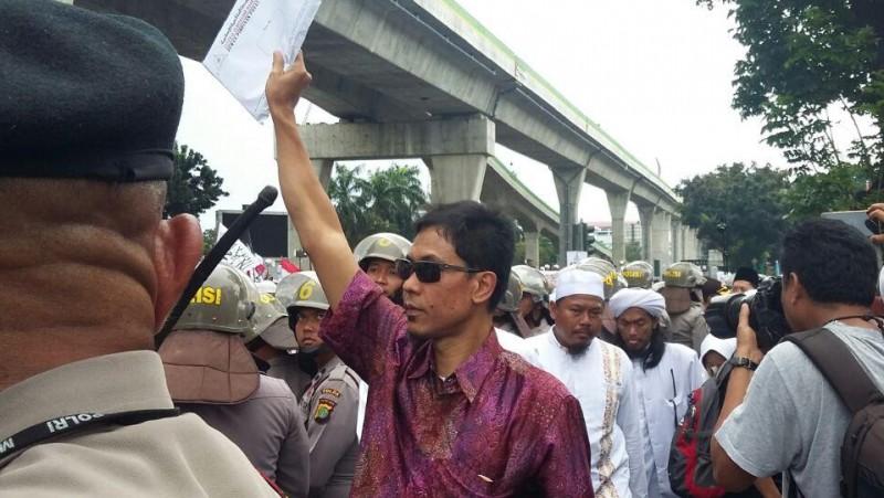 Jubir FPI Munarman di Mabes Polri