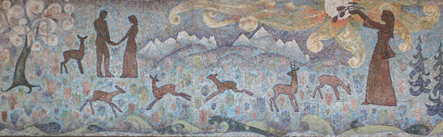kyrgzystan mosaic monumental art, kyrgyz art craft tours