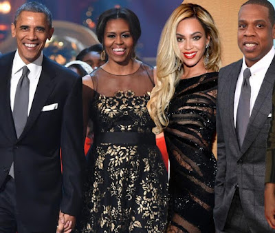 """We both have wives who are significantly more popular than we are"" Obama hails Jay Z in new video as he's inducted into the Songwriters Hall of Fame"