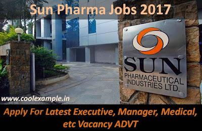 Apply For Sun Pharma Jobs 2017 Latest Executive, Manager, Medical