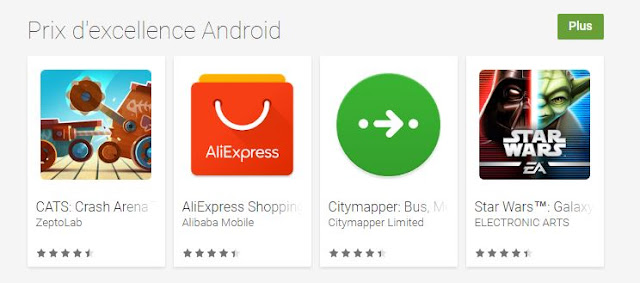 Google Play lance le Prix d\'Excellence Android