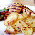 Crispy Grilled Pepper Potato Slices.