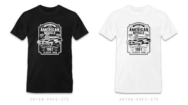 SRT06-P4FC-CTS Retro T Shirt Design, Custom T Shirt Printing