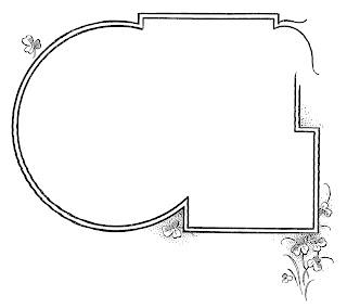 border frame botanical clover design clipart image