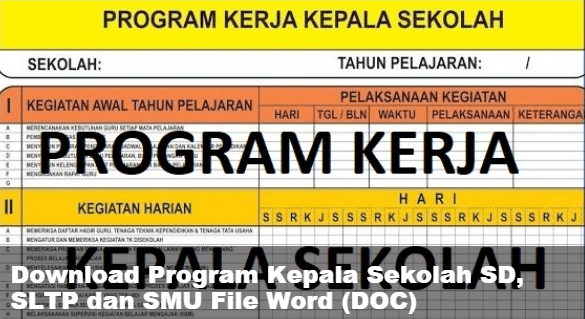 Download Program Kepala Sekolah SD