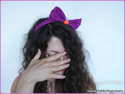wzór-opaska-kokardka-kokarda-crochet-pattern-blog-blog o modzie, jak przerobić stare ubrania, przerabianie ubrań blog