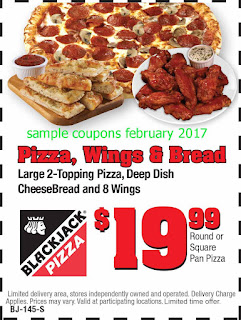 Black Jack Pizza coupons for february 2017