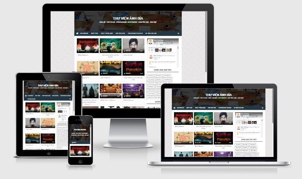 Template blogger Temcv - giao diện chia sẻ hình ảnh video tuyệt đẹp 2016