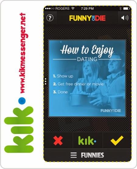 Envia imagenes graciosas con Funny Or Die para Kik
