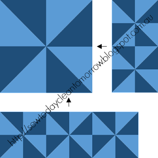 Sample piecing diagram from pattern