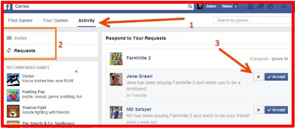 how to stop game requests on facebook android