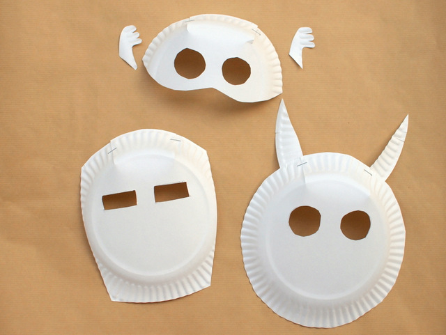 how to make paper plate avengers masks